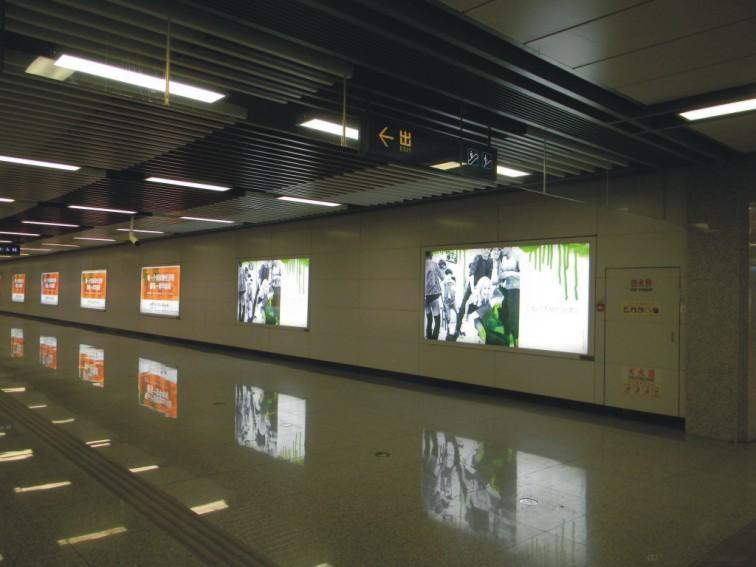 广州地铁广告灯箱节能改造项目照片